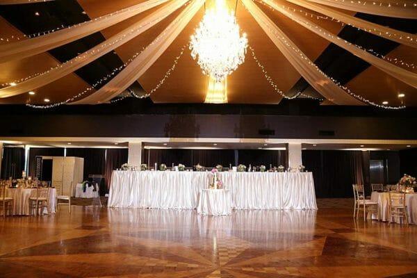 Greek Club Wedding - Bridal Table with Spot Light