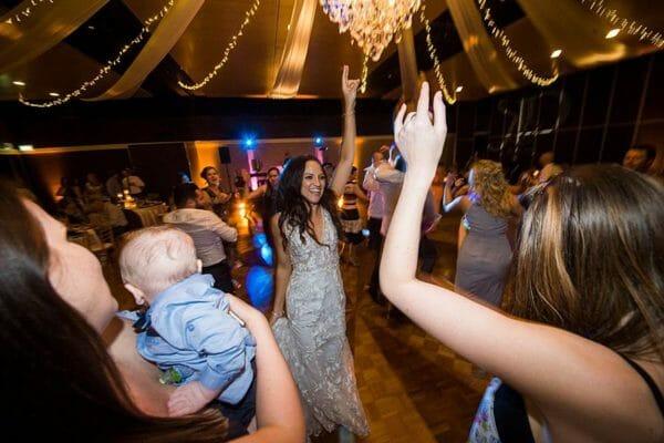 Greek Club Brisbane Wedding - Reception Bride Dancing