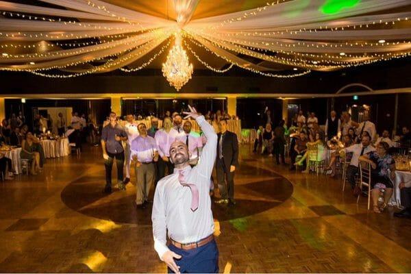 Greek Club Brisbane Wedding - Reception Groom Garter
