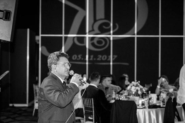 Greek Club Brisbane Wedding - Reception Speeches Monogram