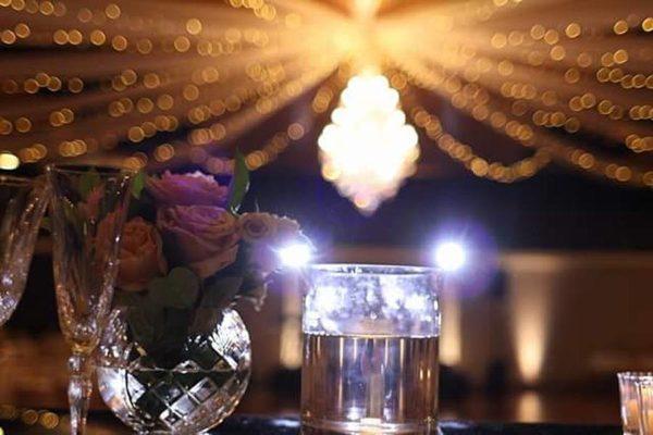 Greek Club Wedding - Warm White Uplighting