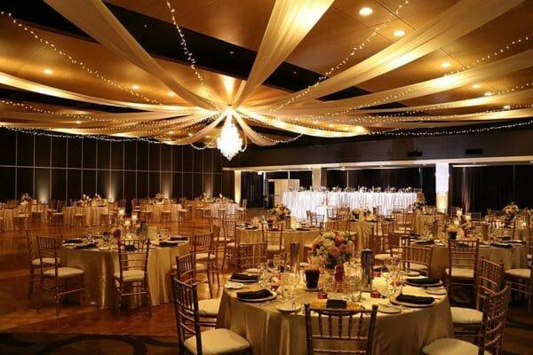Greek Club Wedding - Warm White Uplighting Spot Lights Mood Towers