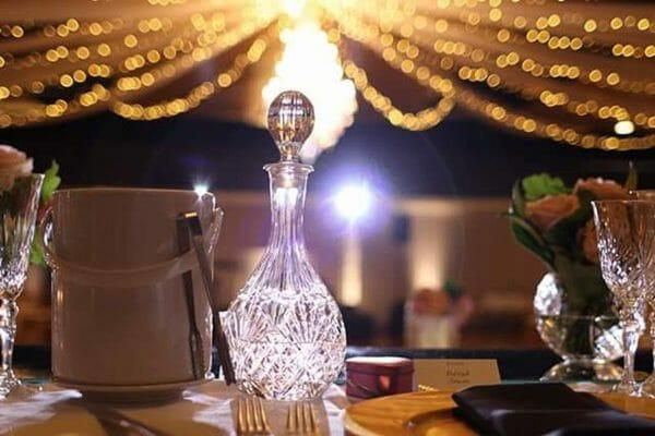 Greek Club Wedding - Warm White Uplights
