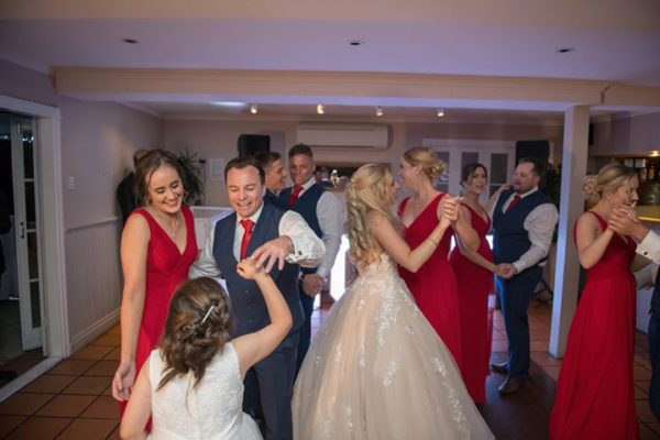Hillstone St Lucia Wedding - Bridal Party Dancing