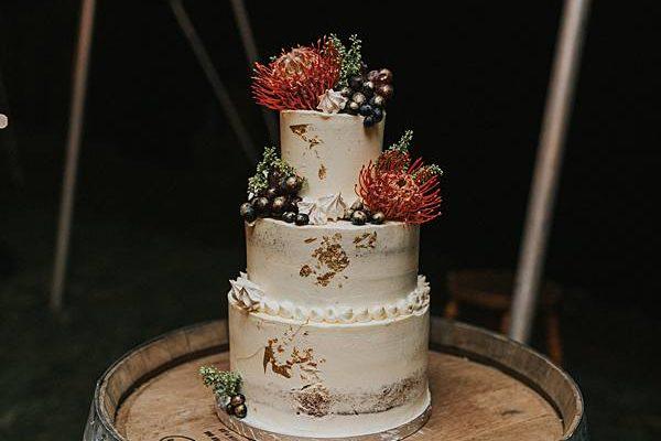 Sunshine Coast Country Wedding - Reception Wedding Cake