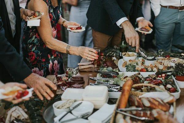 Sunshine Coast Wedding- Ceremony Pre Dinner Food