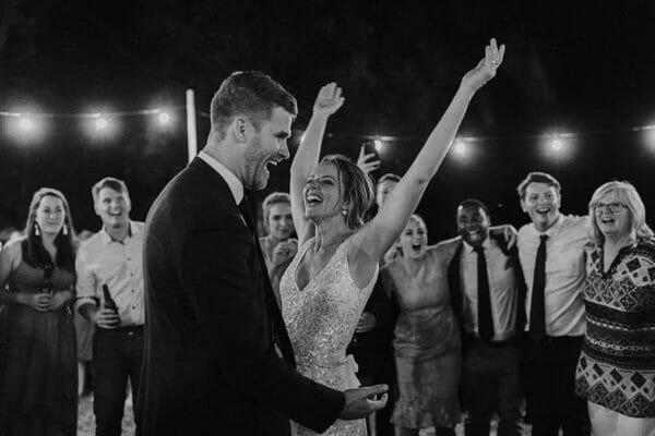 Sunshine Coast Wedding - Reception Happy Bride Dancing
