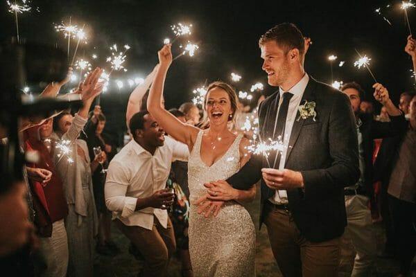 Sunshine Coast Wedding - Reception Sparklers Farewell