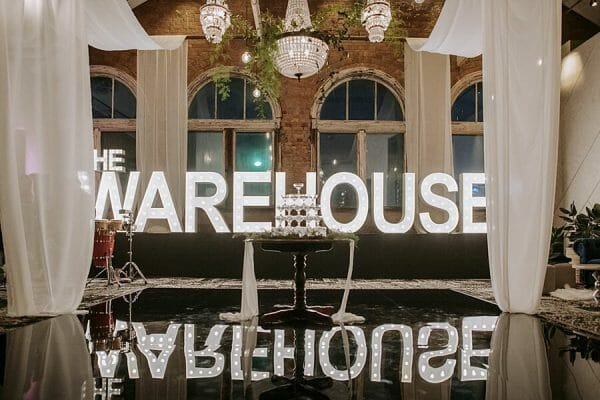 The Warehouse - Event Letter and Dance Floor