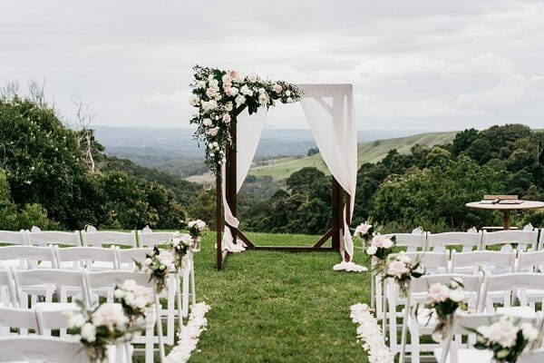 Maleny Manor - Ceremony Arch View