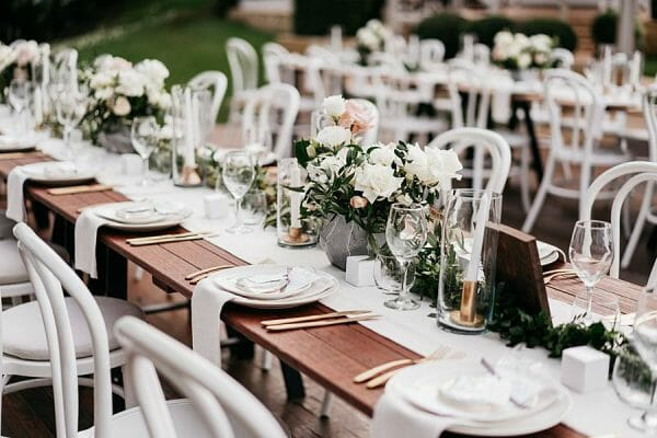 Maleny Manor - Outdoor Wedding Table Setting 2