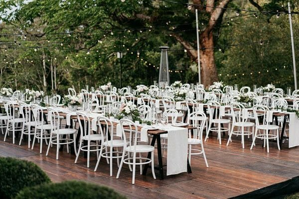 Maleny Manor - Outdoor wedding Table Settings