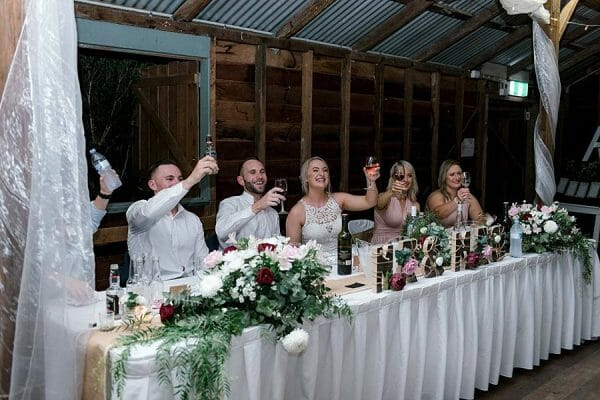 Rustic Hinterland Verrierdale Hall Wedding - Bridal Party Toasts
