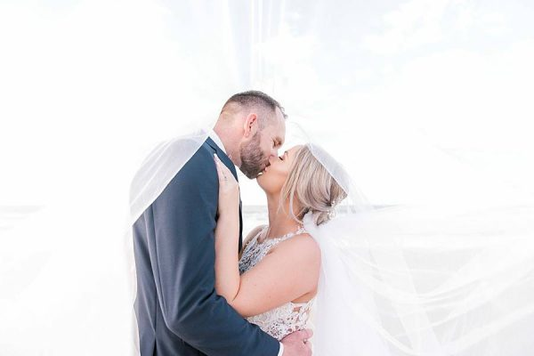 Rustic Hinterland Wedding - Ceremony Kiss