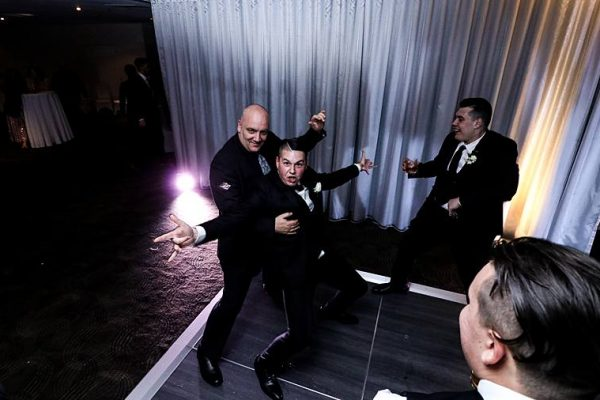 Rydges South Bank Brisbane Wedding - DJ MC Groomsmen Dancing