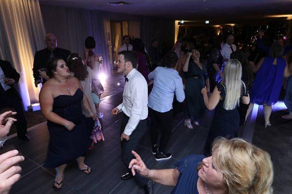 Rydges South Bank Brisbane Wedding - DJ MC Hire Guests Dancing