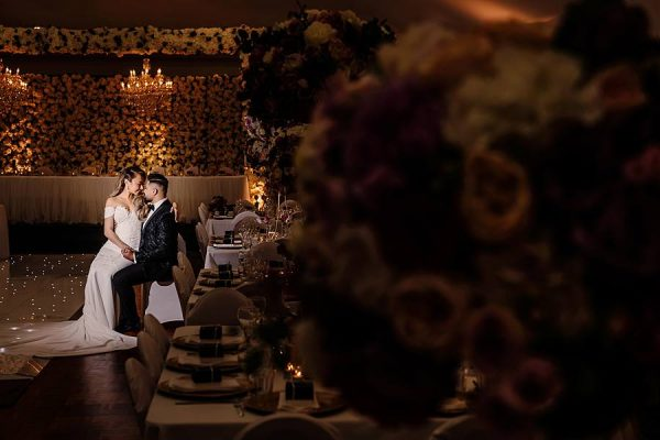 Stunning Wedding Lighting - Bride Groom 1