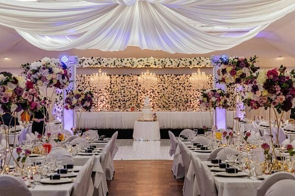 Stunning Wedding Lighting - Greek Orthodox Church Hall Bridal Table