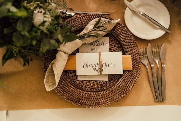Cherbon Waters - Table Setting