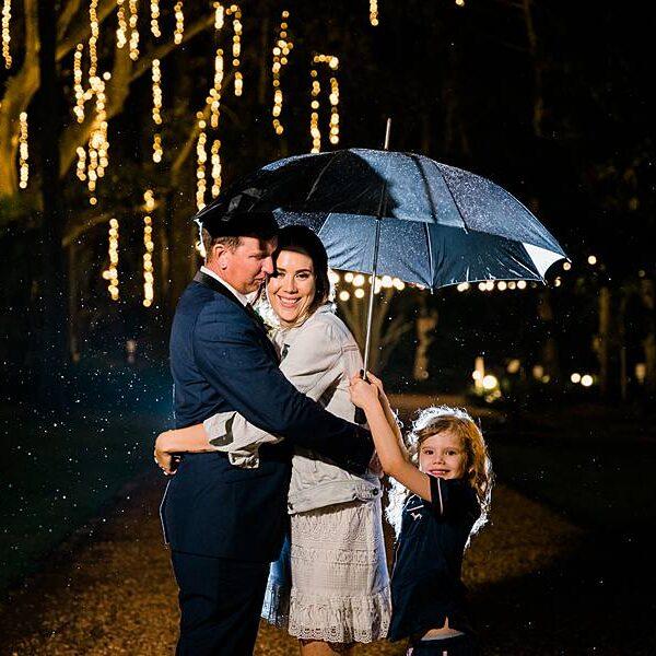 Gabbinbar Homestead - Wedding Couple Rain