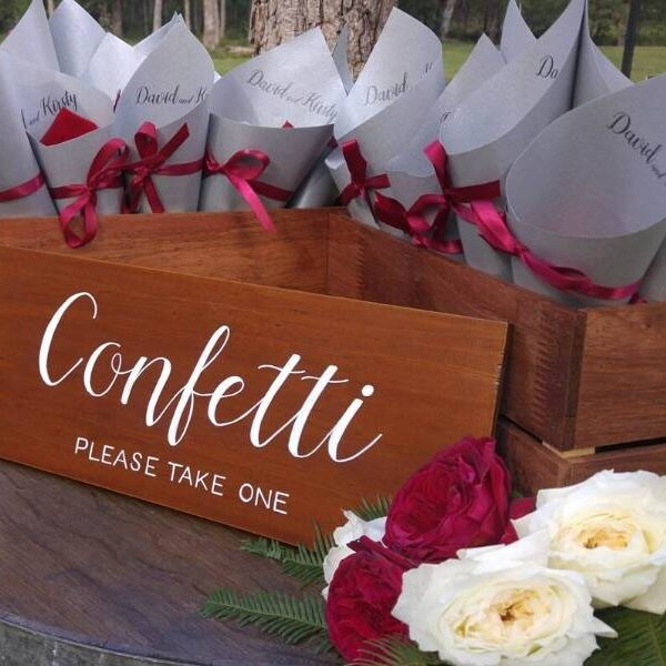 Gordon Country Wedding - Ceremony Confetti