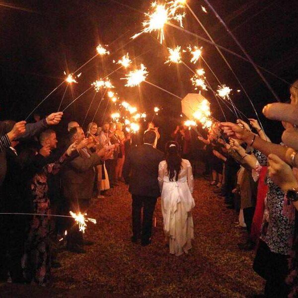 Gordon Country Wedding - Sparkler Send Off