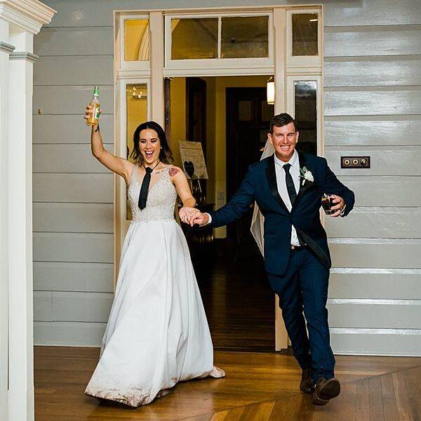 Toowoomba DJ Gabbinbar Homestead Fun Wedding - Couple Entrance