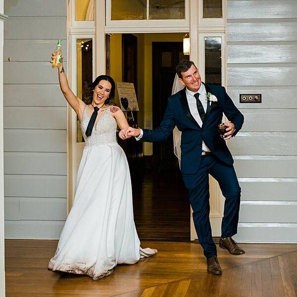 Toowoomba DJ Gabbinbar Homestead - Fun Wedding Entrance Couple