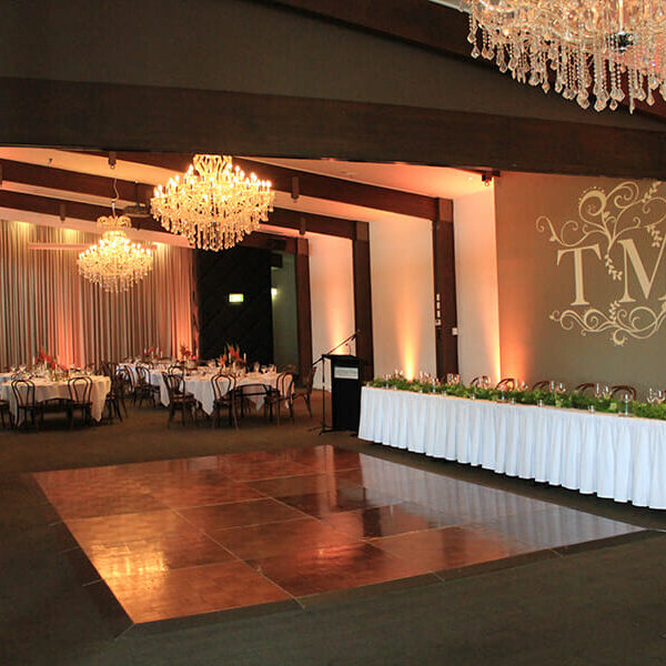 APRICOT UPLIGHTING | Ballroom at Victoria Park