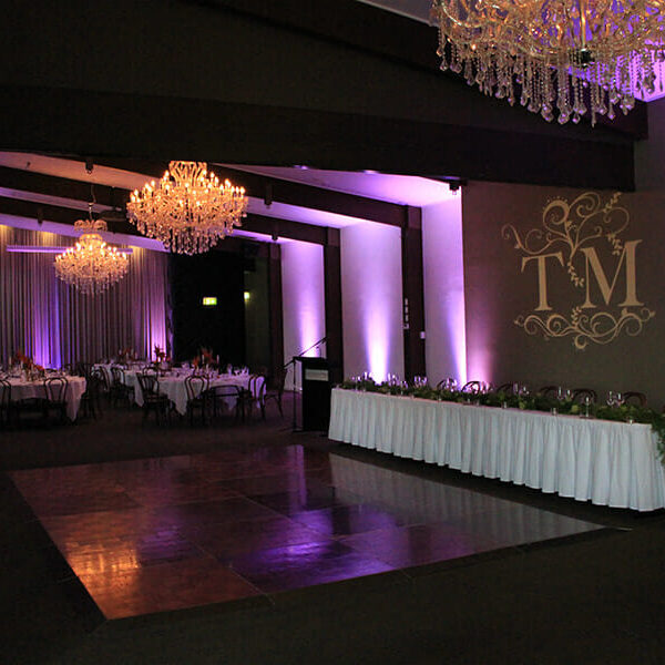FUSHIA UPLIGHTING | Ballroom at Victoria Park