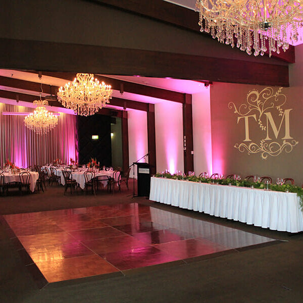 PINK UPLIGHTING | Ballroom at Victoria Park