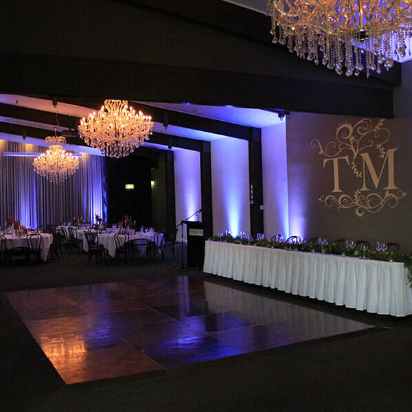 PURPLE UPLIGHTING | Ballroom at Victoria Park