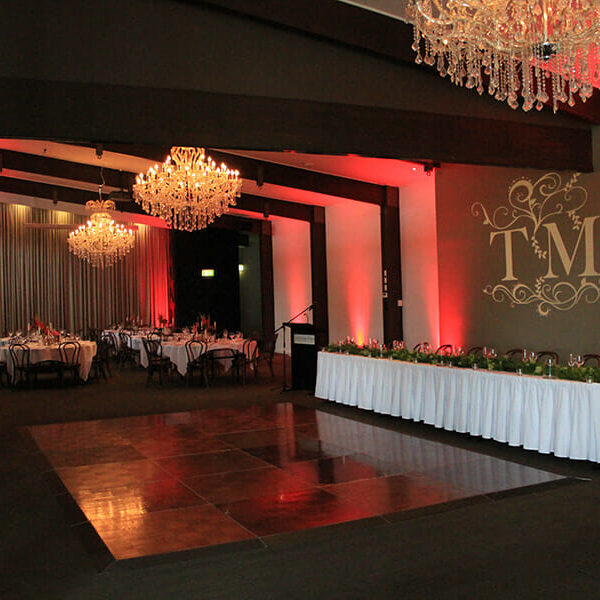 RED UPLIGHTING | Ballroom at Victoria Park