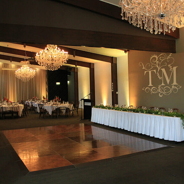 WARM WHITE UPLIGHTING | Ballroom at Victoria Park