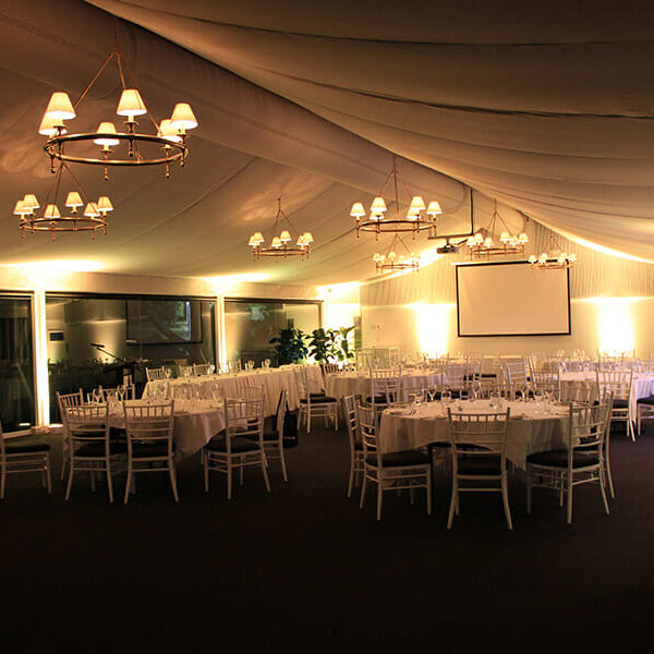 WARM WHITE UPLIGHTING | Garden Marquee at Victoria Park