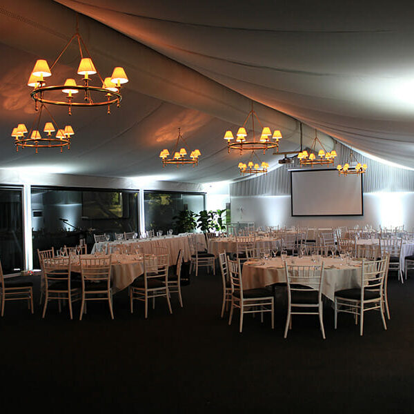 WHITE UPLIGHTING | Garden Marquee at Victoria Park