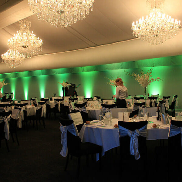 GREEN UPLIGHTING | The Marquee at Victoria Park