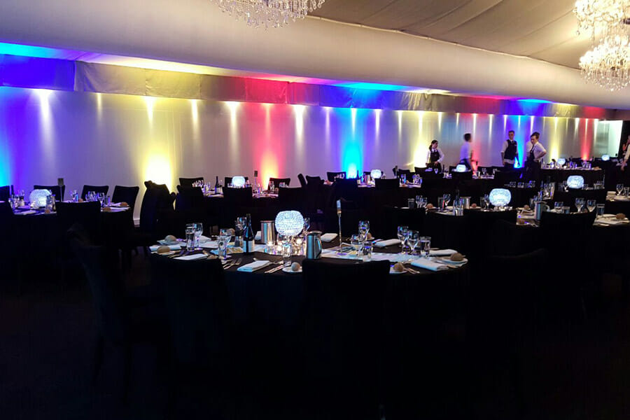 RAINBOW UPLIGHTING | The Marquee at Victoria Park
