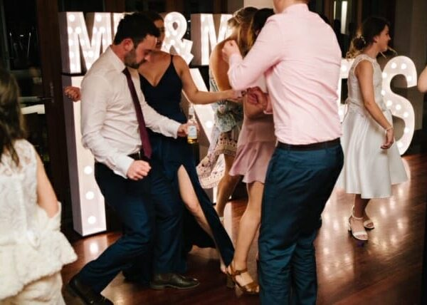 Wedding at Sirromet Wines - Dancing with Event Letters 2