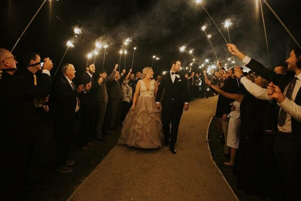 Austinvilla Estate - Reception Bride & Groom Sparkler Exit