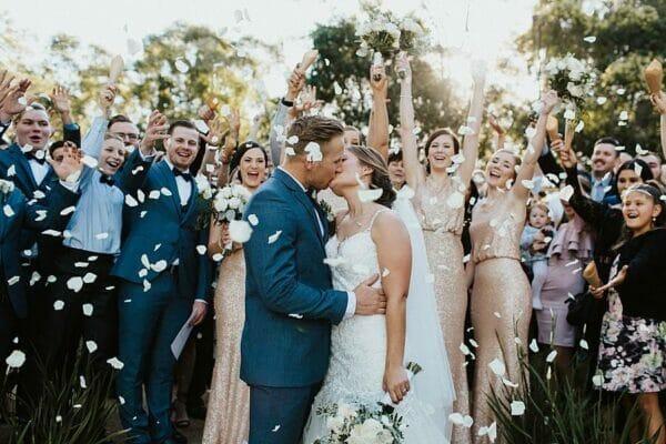 Sirromet Wines Wedding - Ceremony Kiss