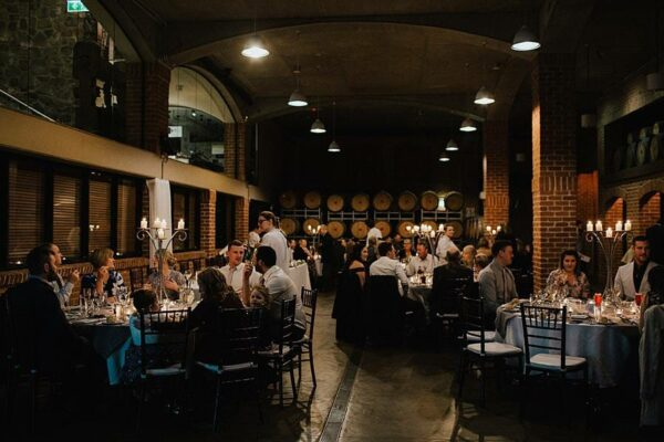 Sirromet Wines Wedding Reception Barrel Hall