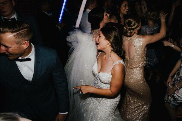 Sirromet Wines Wedding Reception - Dancing Bride