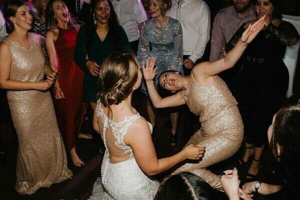 Sirromet Wines Wedding Reception - Dancing Bride Fun