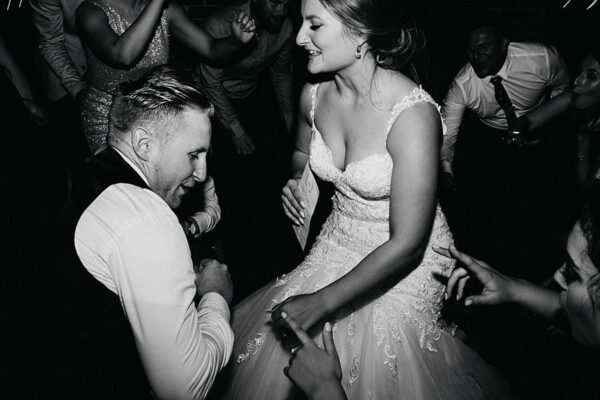 Sirromet Wines Wedding Reception - Dancing Bride Groom