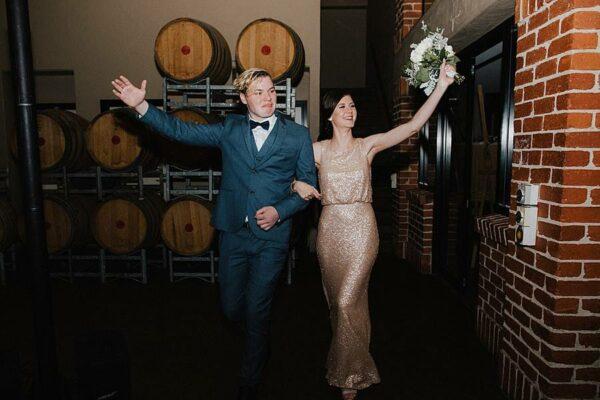 Sirromet Wines Wedding Reception Entrance
