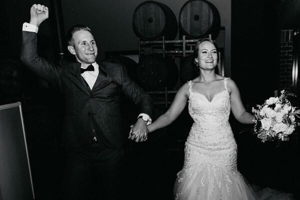 Sirromet Wines Wedding Reception Entrance Smile