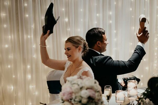 Stamford Plaza Brisbane Wedding - bride groom shoe game 2