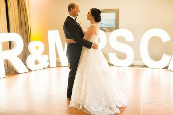 Stamford Plaza Wedding - Bride Groom First Dance Event Letters