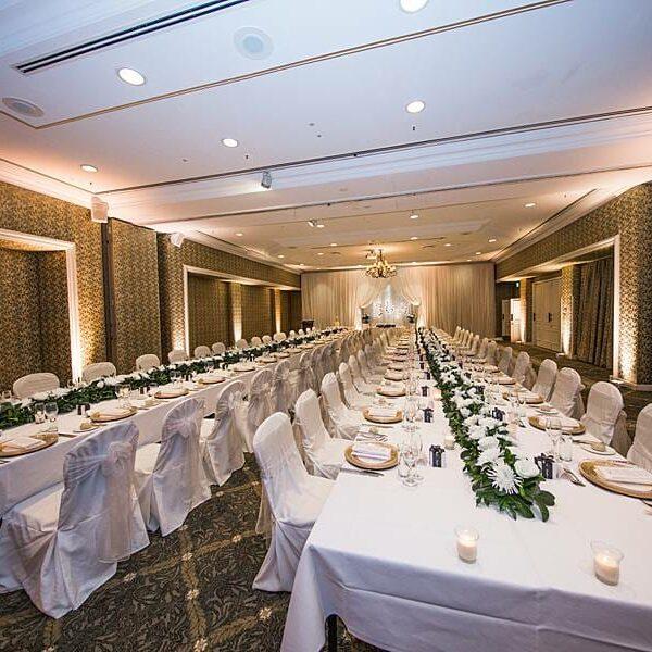 Stamford Plaza Ballroom Lighting - Warm White Uplighting